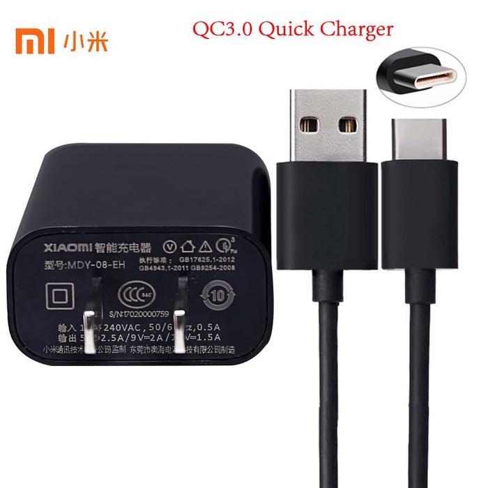 Charger Xiaomi Type C 2A Original 100% MDY-08-DF USB Fast MI5 MI4C