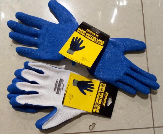 harga Krisbow glove cotton latex - sarung tangan kerja konstruksi Tokopedia.com