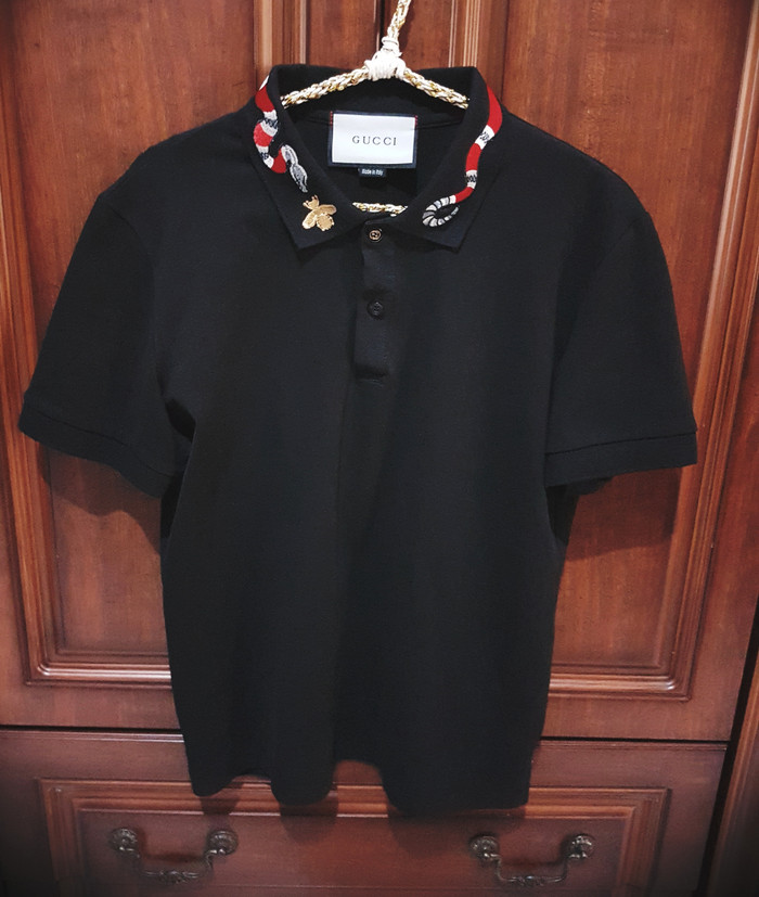 cd85506d Jual GUCCI polo shirt cotton KINGSNAKE Embroidery REAL 1:1 BEST ...