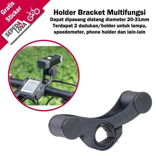 harga Holder bracket mount multifungsi sepeda lampu speedometer bel Tokopedia.com