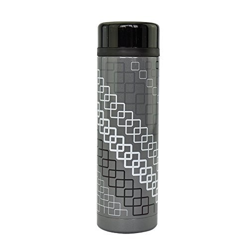 lock & lock hot & cool slim tumbler - abu-abu (lhc3033)