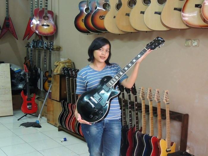 harga Jual gitar gibson les paul hitam Tokopedia.com