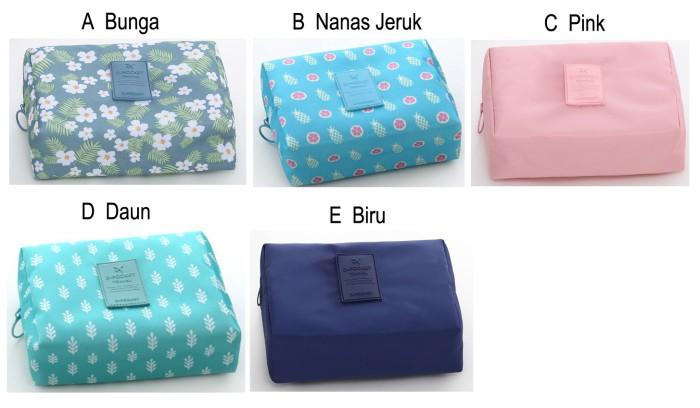 Tas Kosmetik Pouch Tempat Make Up Bag Serbaguna Cosmetic Bag
