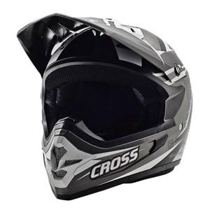 Cargloss mxc supercross helm motocross - grey white deep black