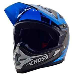 Helm cross cargloss mxc supercross  - grey black blue