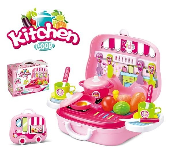 Foto Produk Mainan Cewek Kitchen Cook Set PINK Masakan 008-915 dari istanatoys.net