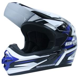 Helm cargloss mxc motocross blue sp white