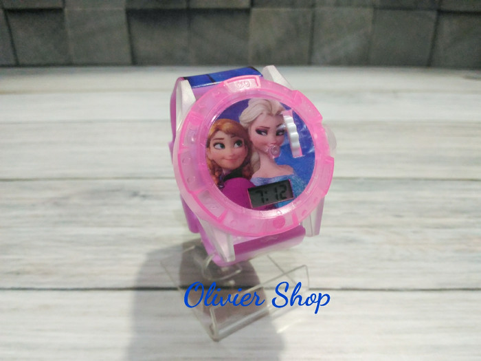 harga Jam tangan musik proyektor laser anak digital karakter frozen Tokopedia.com