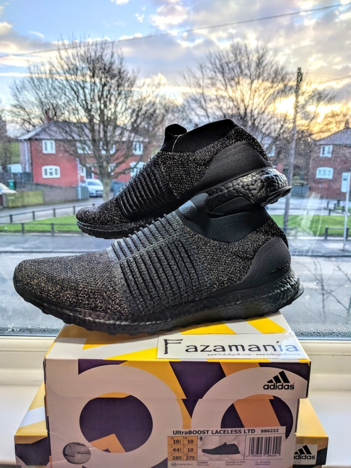 Jual Adidas Ultra Boost Laceless Triple Black - Fazamania  449dbe7de