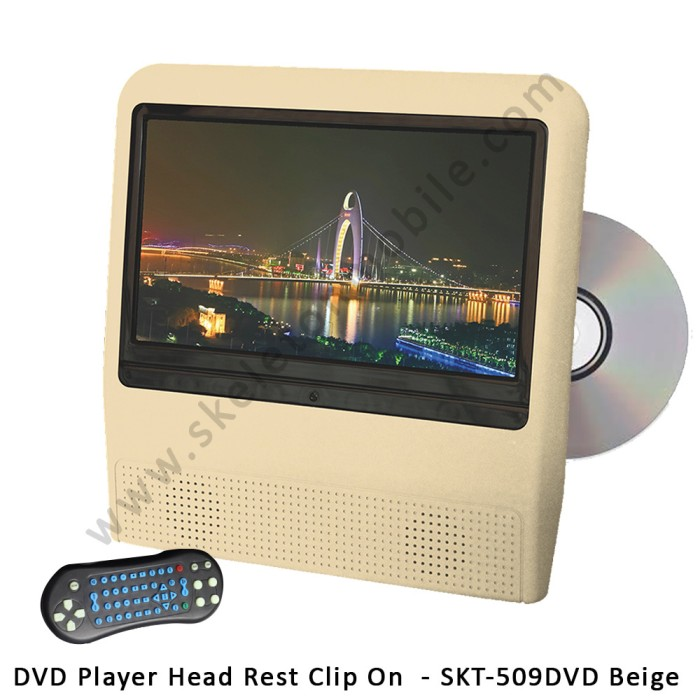 harga Skeleton dvd player monitor headrest clip on skt - 509dvd beige Tokopedia.com