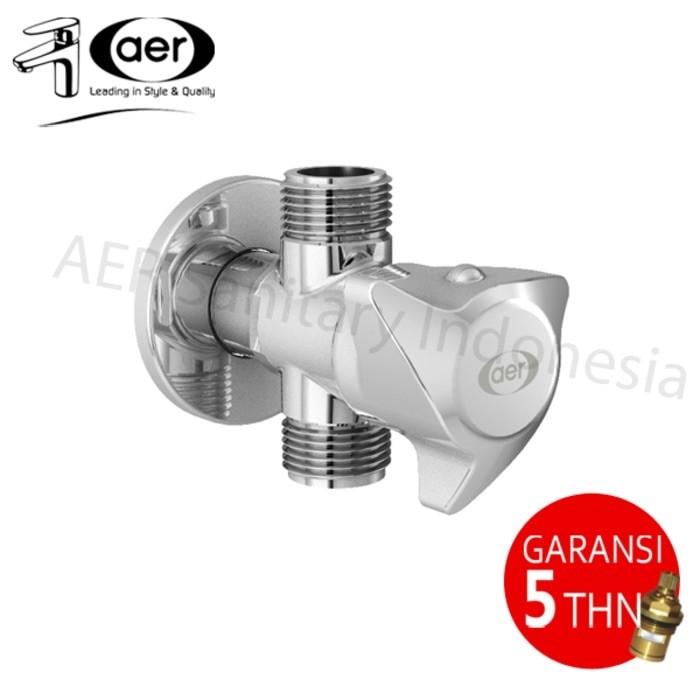 harga Aer kran air shower cabang kuningan/brass two ways/angle faucet tf 03b Tokopedia.com