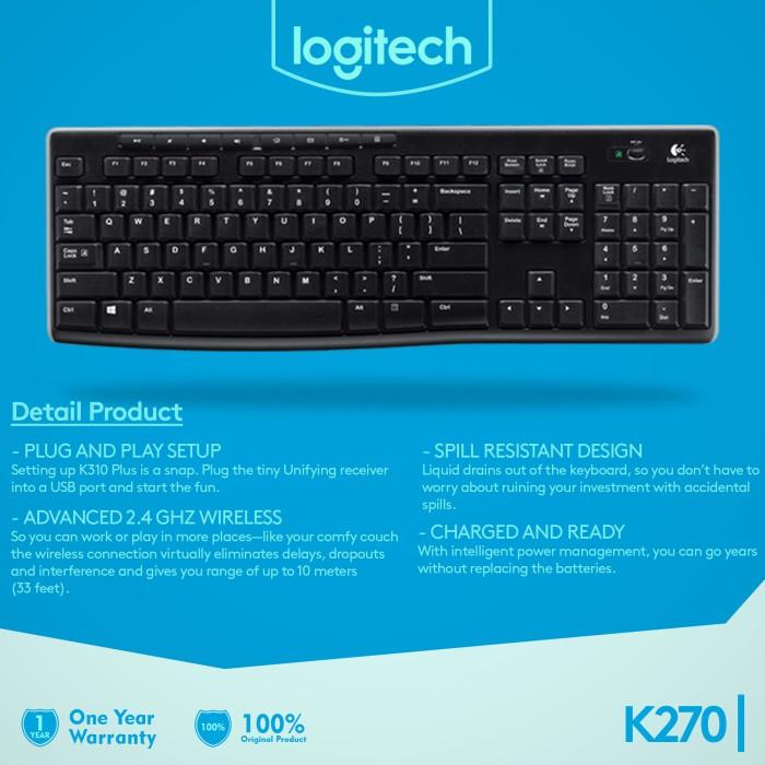 Jual Logitech Wireless Keyboard K270 - PT  Global Distribusi | Tokopedia