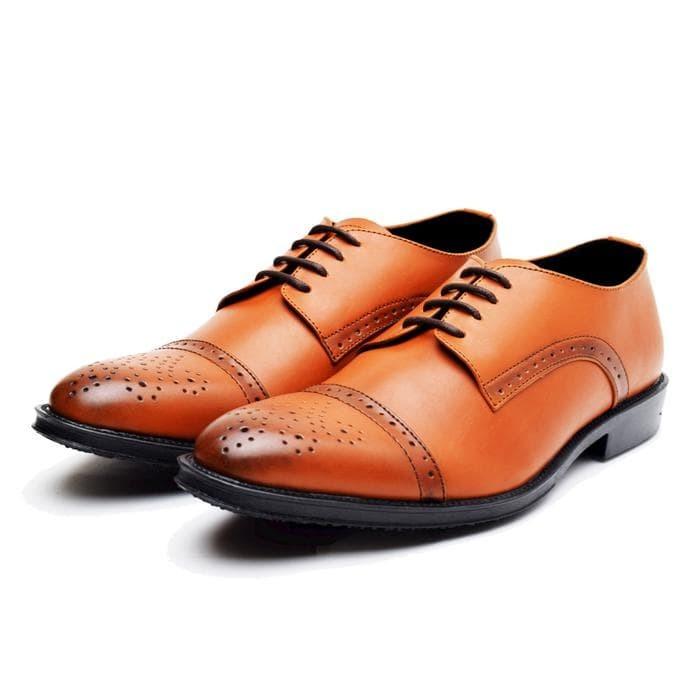 Sepatu Pantofel Kerja Pesta Pria WETAN Sweta Dwipa 2 -Hitam Coklat Tan b116167b35