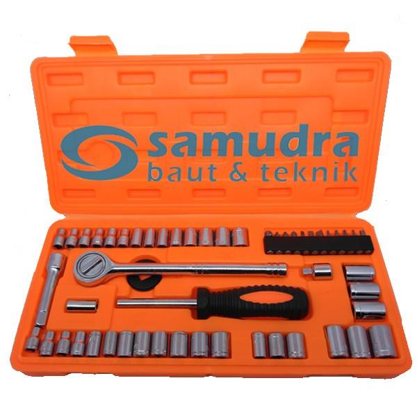Foto Produk Kunci Sok Set 54 Pcs KENMASTER PREMIUM PROFESSIONAL Socket Wrench dari Samudra Baut Teknik