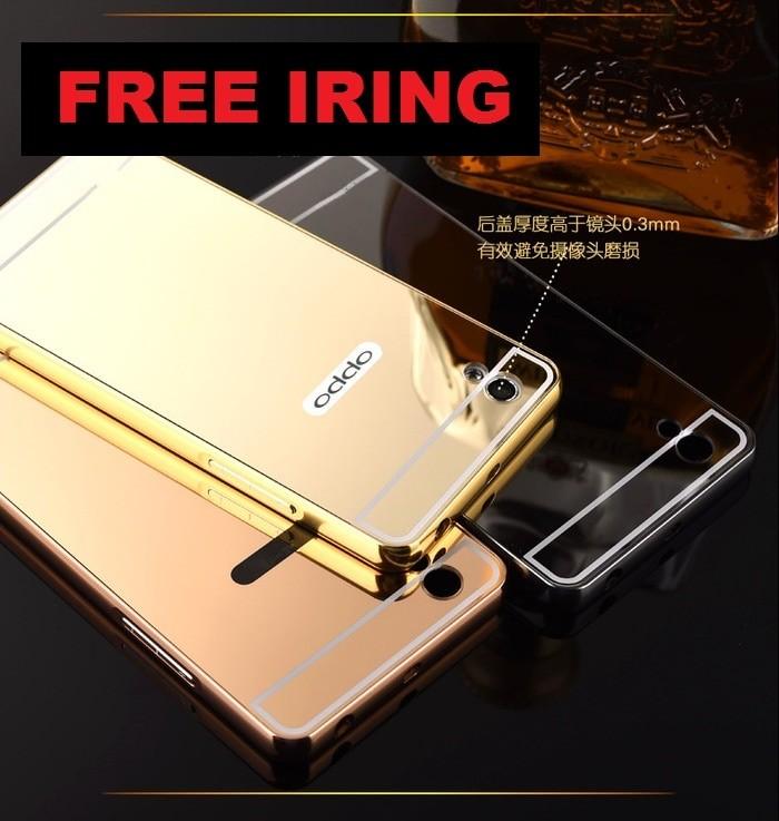 ... Mirror case Oppo f1 Plus selfie aluminium back bumper spigen ringke