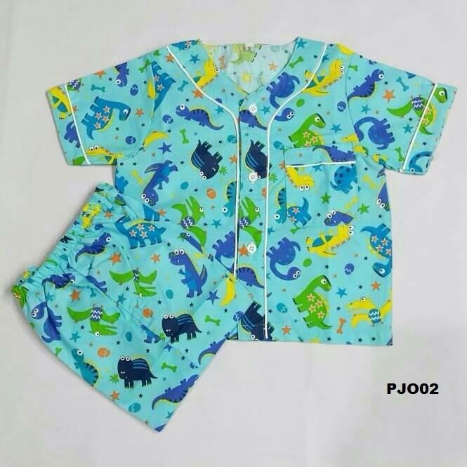 pajamas anak cowo / baju tidur murah / piyama anak dino
