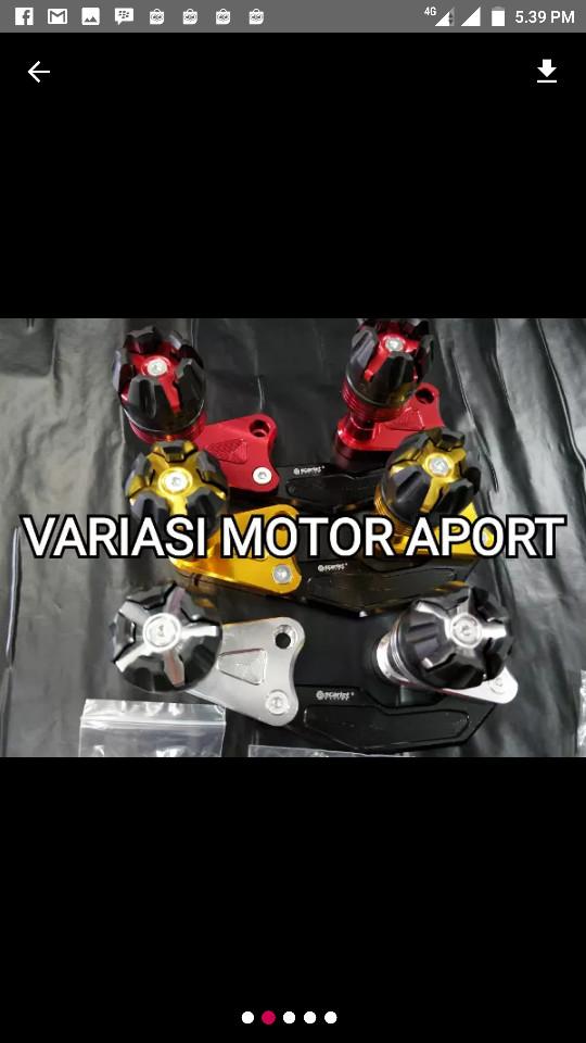... harga Jalu pelindung knalpot nmax yamaha aerox 155 cnc scarlet jalu model Tokopedia.com