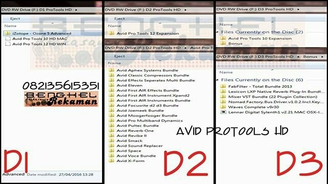 Jual Paket Avid Protools 10&12 HD Windows - Jakarta Timur - Bengkel Rekaman    Tokopedia