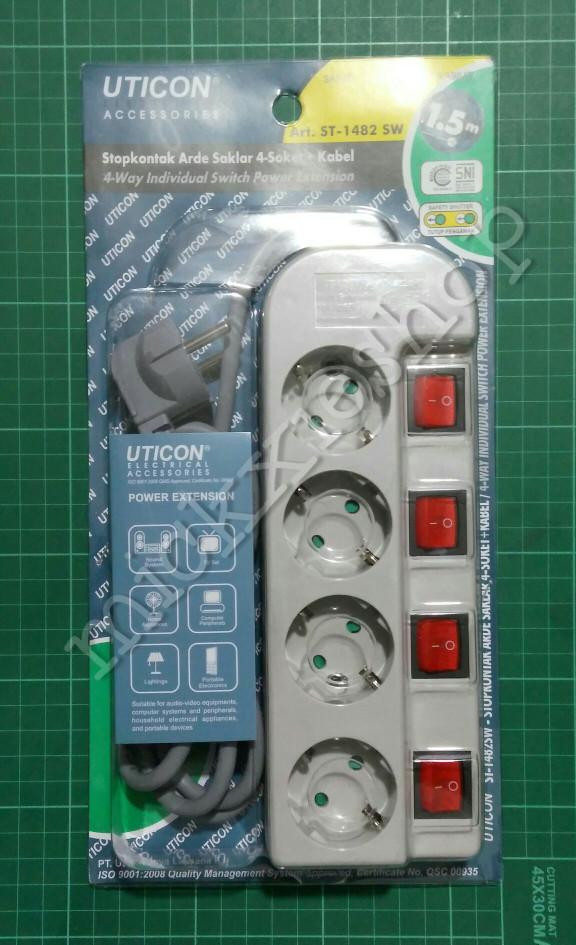 harga Terminal / saklar / stop kontak listrik 4 lubang uticon + kabel Tokopedia.com