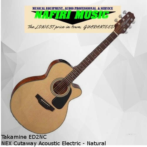 harga Takamine ed2nc nex cutaway acoustic electric - natural Tokopedia.com