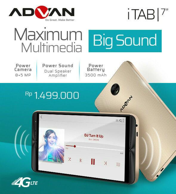 harga New tablet advan itab 4g lte 7inch 2/16gb Tokopedia.com
