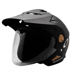 Helm cargloss former of matt black gold black doff