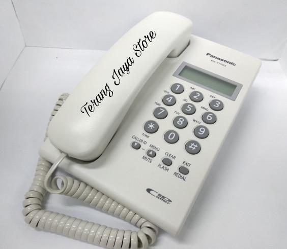 harga Telepon kabel panasonic kx-t7703 (putih) pesawat telepon rumah t7703 Tokopedia.com