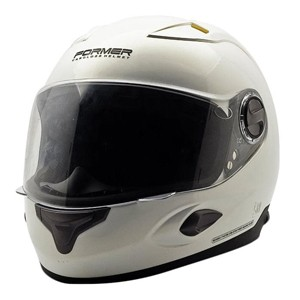 Helm fulll face cargloss former super vent a white gold pear - putih size l