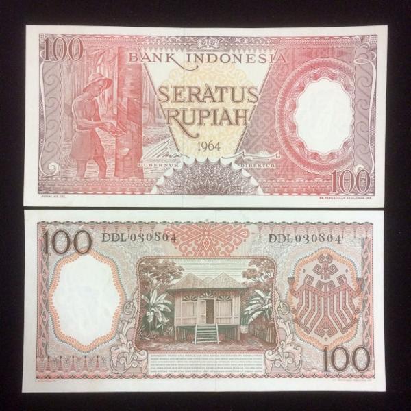 harga Satu lembar 100 pekerja 1964 / uang kuno indonesia / koleksi / hobi Tokopedia.com