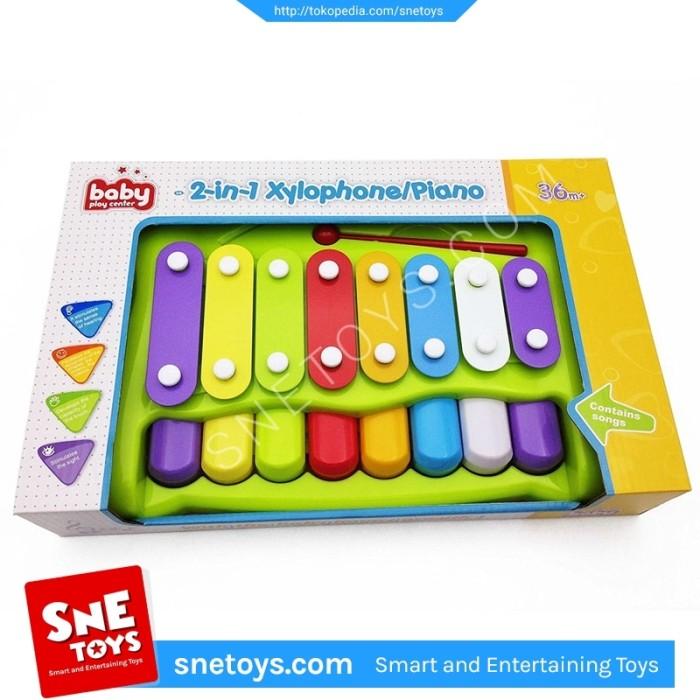 harga Xylophone piano 2 in 1 -mainan alat musik xylophone  piano anak wa1204 Tokopedia.com