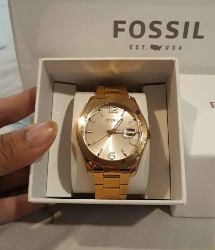 Jual Diskon Fossil Es3587 Rose Gold Original Jam Tangan Jakarta Barat Vira Shopings Tokopedia