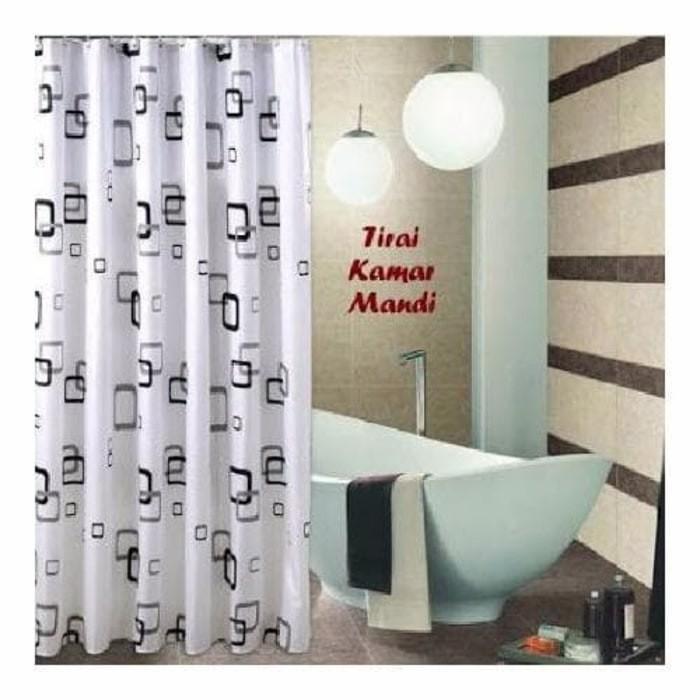 harga Gorden Shower Curtain [ Kotak-kotak] Tirai Kamar Mandi Tokopedia.com