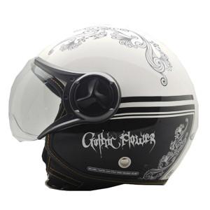 Helm cargloss yr ghotic flower black super white