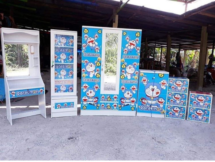 Jual Lemari Satu Set Doraemon Minimalis Kota Bogor April Furniture Tokopedia