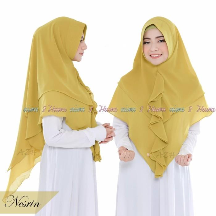 Jual Jilbab Instan Hijab Syari Kerudung Khimar Ceruti 2 Layer Rempel