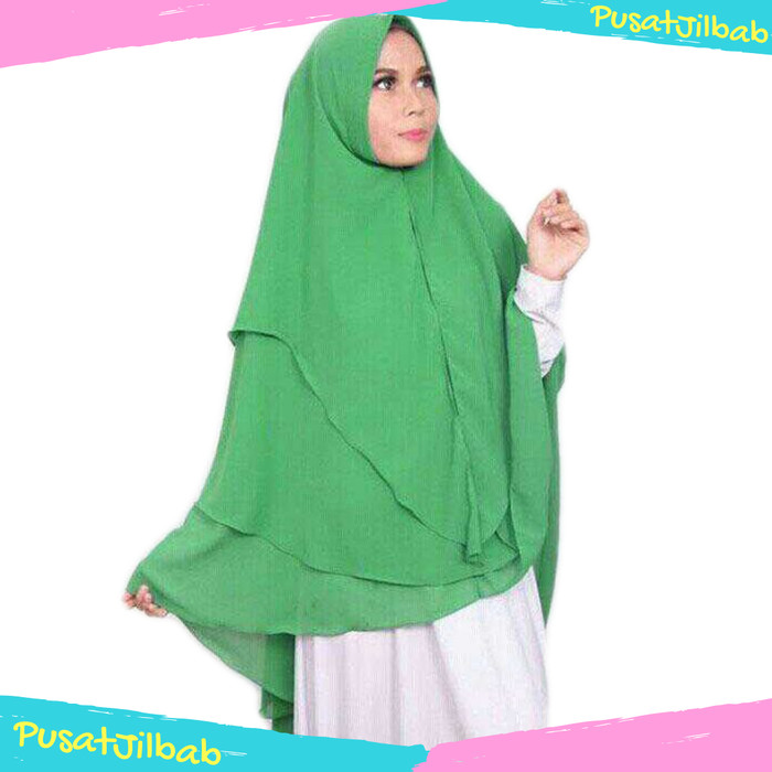 harga Jilbab instan hijab kerudung khimar ceruti syari jumbo kinara 3 layer Tokopedia.com