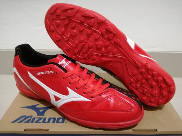 harga Sepatu futsal mizuno wave ignitus 4 bright red black - turf Tokopedia.com