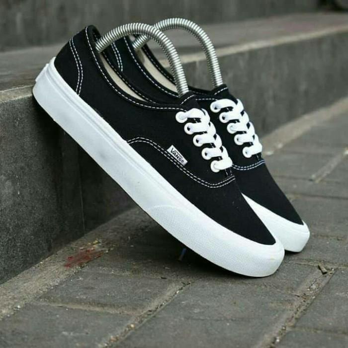 97a6c53384 Sepatu vans authentic mono black white premium bnib casual termurah op