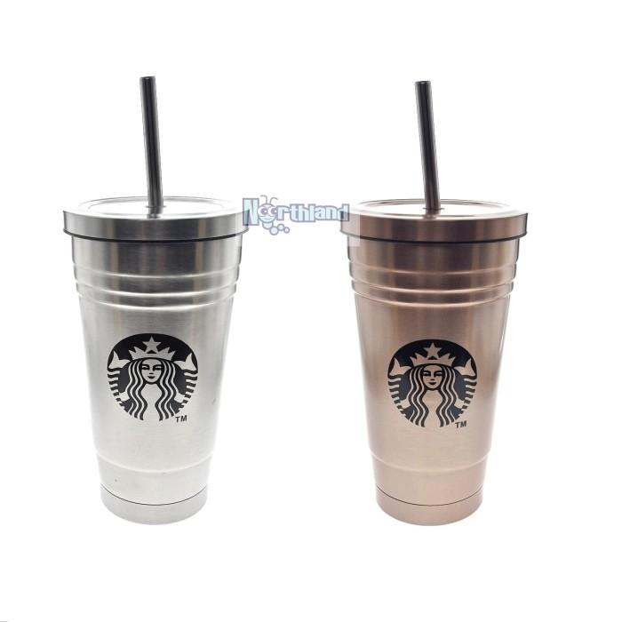 harga Tumbler starbucks cup gelas seattle 16 oz  | silver gold 67 Tokopedia.com