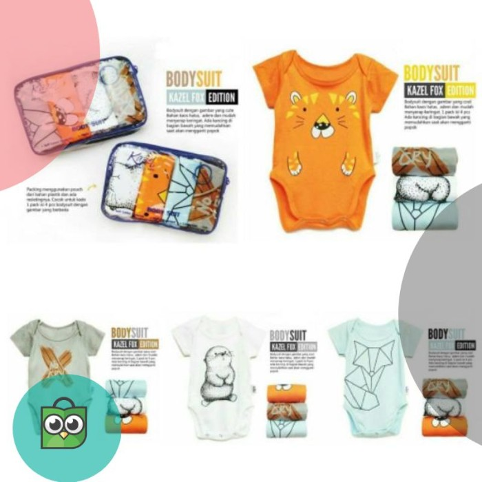 Kazel Bodysuit / Jumper Fox 4in1 Jumper Bayi Modern Boy NB - XXL