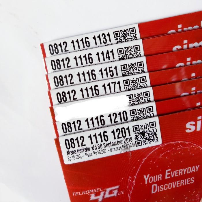 harga Nomor cantik simpati 4g pulsa 10rb triple 1 satu kartu telkomsel 1131 Tokopedia.com