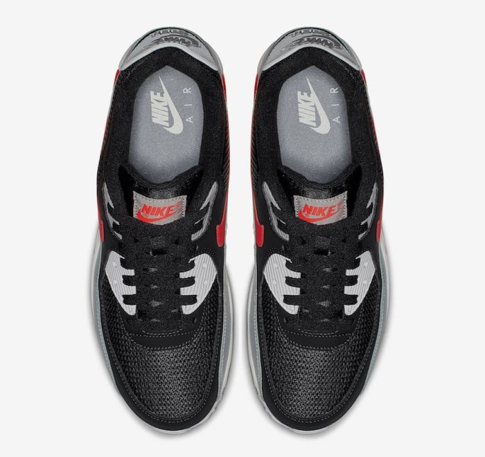 Jual ORIGINAL BNIB Nike Air Max 90 Wolf Grey Black White Bright Crimson DKI Jakarta Khieshop Authentic Shoes | Tokopedia