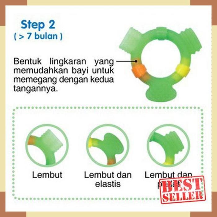 PIGEON Teether STEP 2 - Baby Teether - Gigitan Bayi