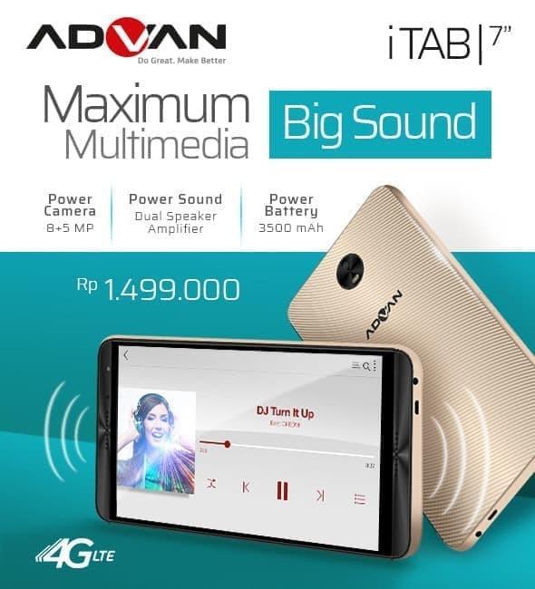 harga Advan itab 4g lte - ram 2gb/16gb - garansi resmi - gold Tokopedia.com