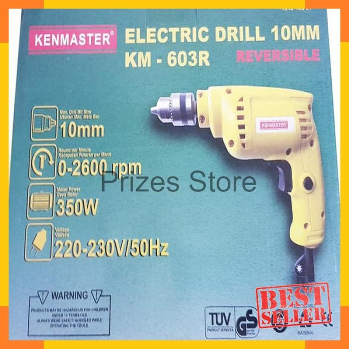 Promo Mesin Bor Listrik Kenmaster Km-603r 10 mm Bolak Balik Terbaik
