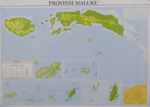 Jual Murah Peta Provinsi Maluku Lipat Kebon Jeruk Top Buku Rty Tokopedia