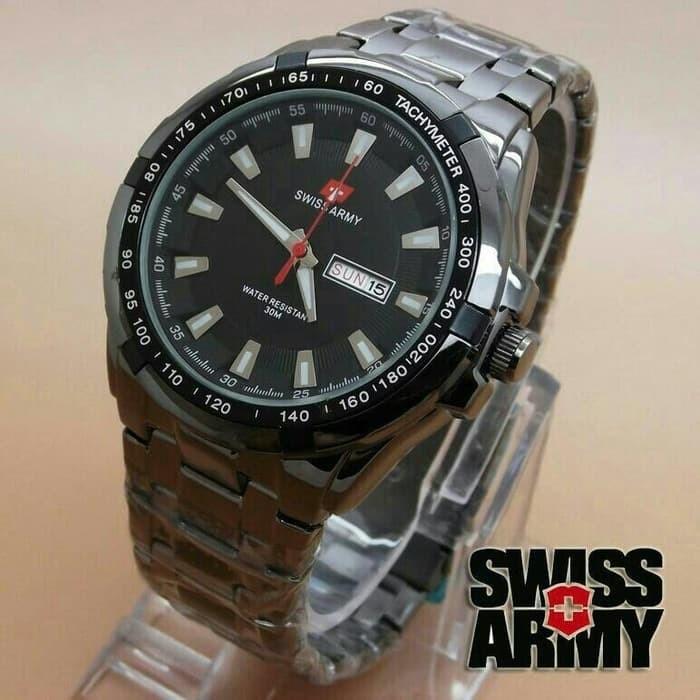 Jam Tangan Pria Swiss Army Day Date Full Black Kw Super - FullBlack 18d17da513