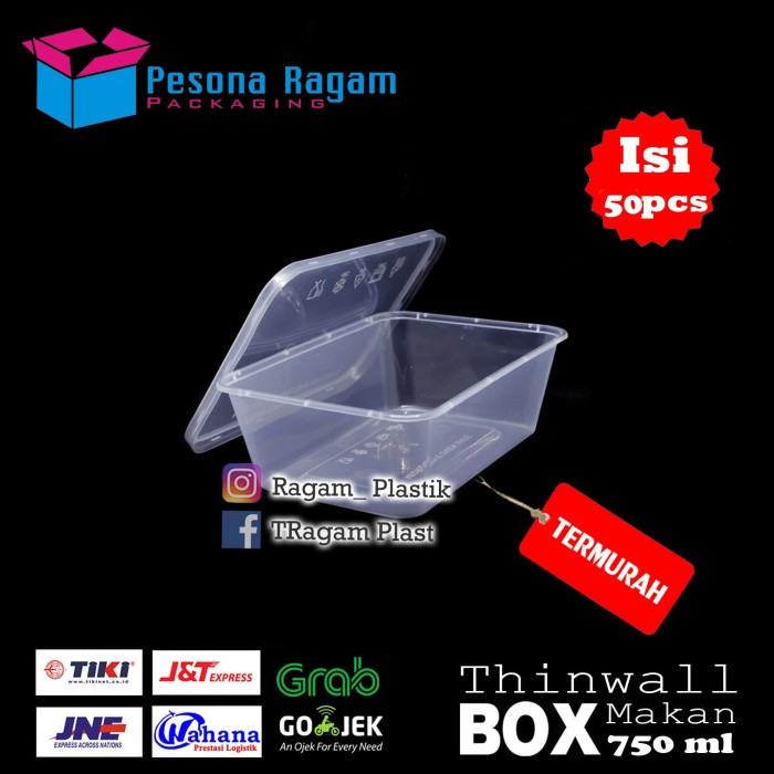 harga Thinwall 750ml microwave food grade 5 Tokopedia.com