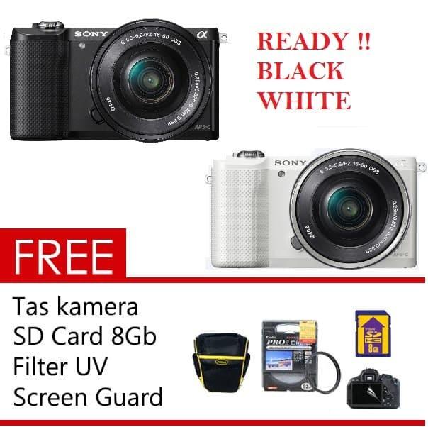 Free++| sony alpha ilce-a5000 kit 16-50mm kamera mirrorless a 5000