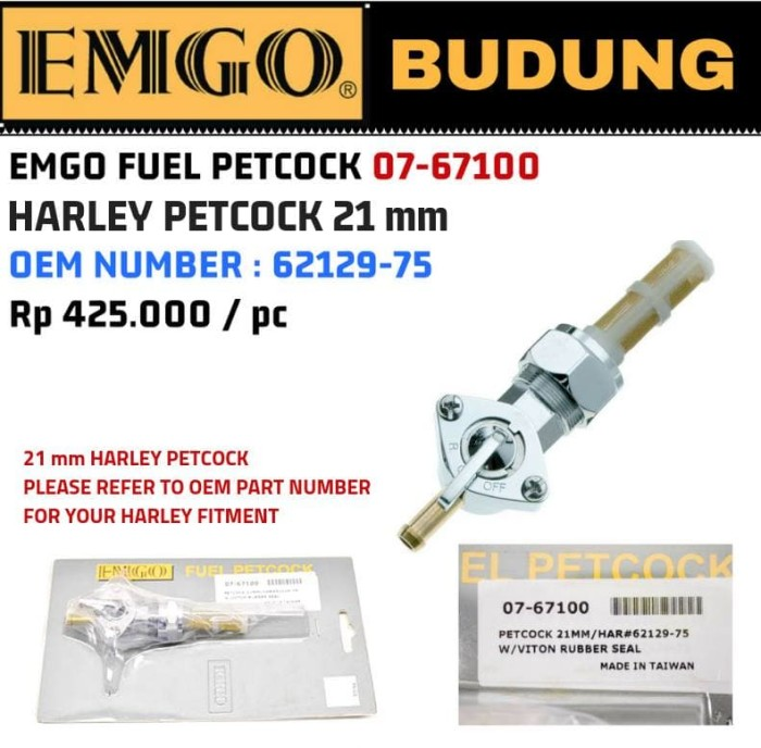 Foto Produk Emgo fuel petcock 07-67100 21mm dari Budung Cycles